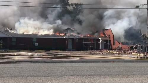 Massive fire destroys Texas City church