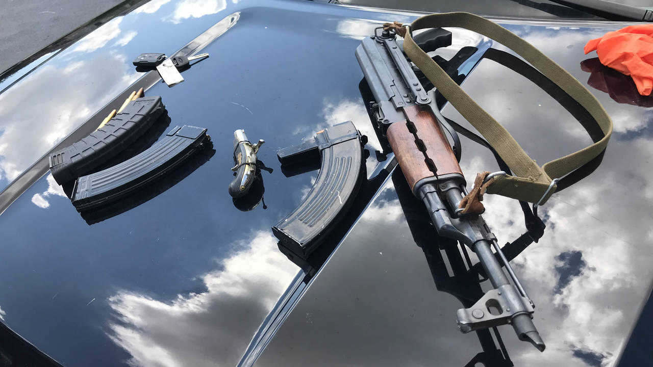 Firearm, Home Depot stolen truck chase 4
