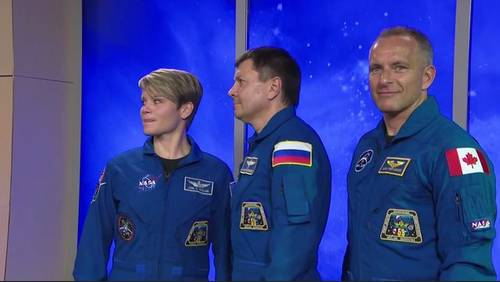Canadian, Russian, American astronauts gear up for trip to International Space Station