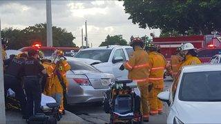 2 children injured in Plantation crash