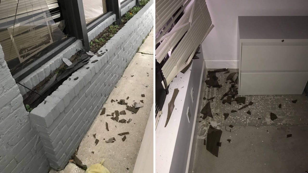 Implosion broken window