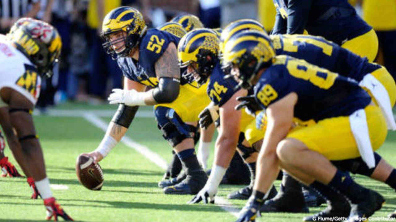 Mason Cole Michigan football offensive line 2016