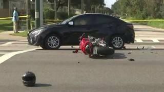 Crash shuts down busy Sanford intersection