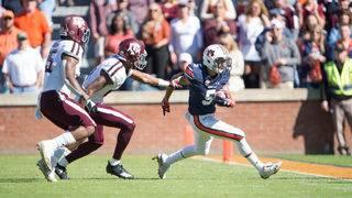 Stidham-to-Williams lifts Auburn past No. 25 Texas A&M 28-24
