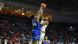 Trent, No. 5 Duke use 18-0 burst to rally past No. 25 Miami