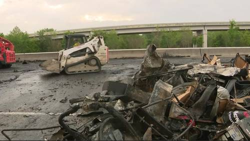 Eastex Freeway reopens several hours after truck driver killed in fiery crash