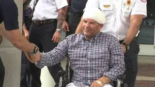 Miami firefighter injured in crash along I-95 heads home from hospital