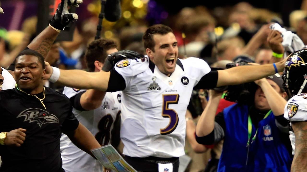 Ravens Joe Flacco Super Bowl getty