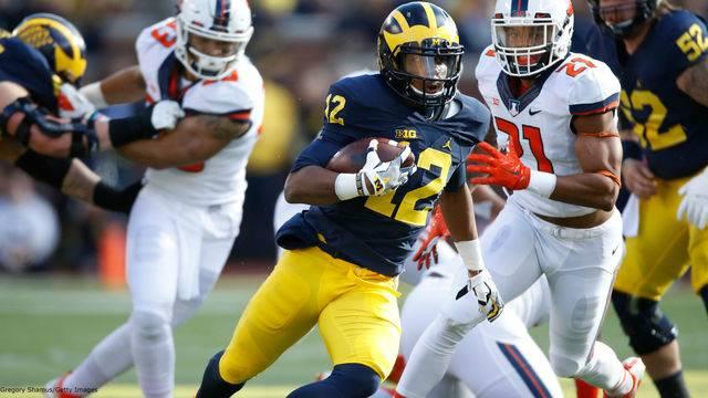 Chris Evans Michigan football vs Illinois 2016