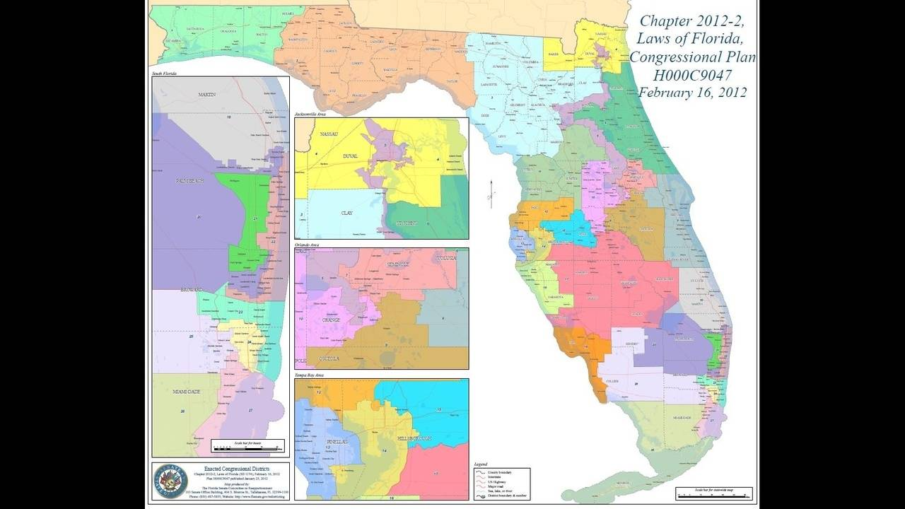 Florida Congressional District Map.Florida Legislature Ends Session Without New Congressional