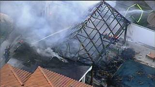 1 person burned on hand after gazebo catches fire in Hialeah