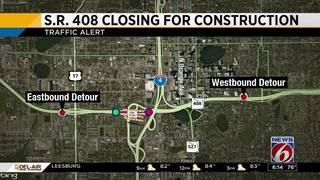 Weekend detours on SR 408