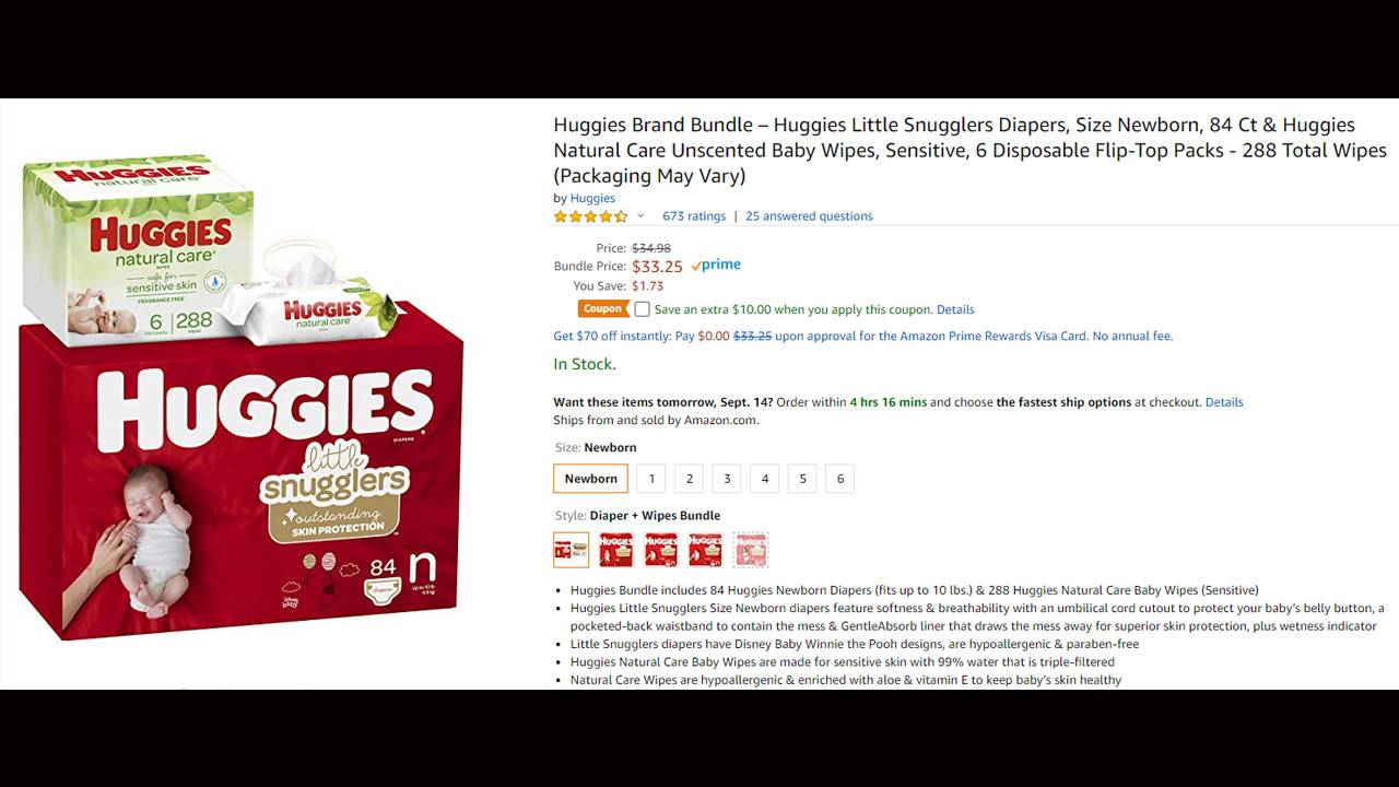 Huggies diaper deal 9-13-19