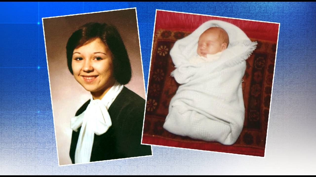 Eric Yutzy baby picture with birth mother