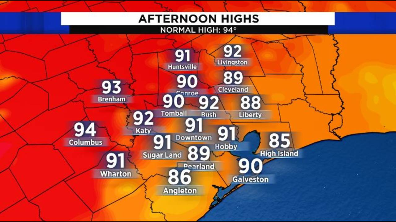 Sat Expected Highs 8-24-19