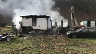 Family, dogs safe after early-morning fire destroys Alleghany County home