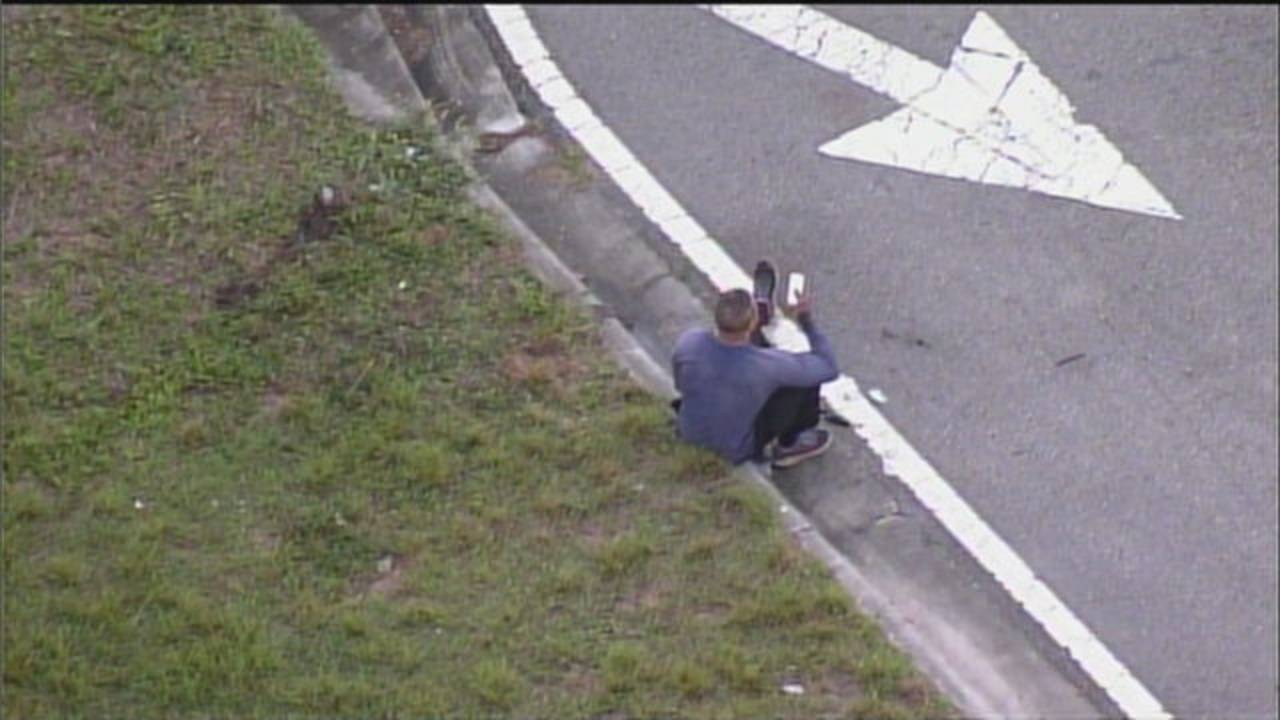 Sky 10 man in pickup truck who fell over Dolphin Expressway ramp