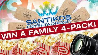 Win a family 4-pack of VIP tickets to Santikos Entertainment!