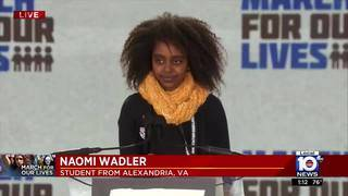 March for Our Lives in Washington:  Never Again activist Naomi Wadler