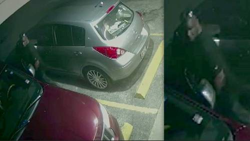 Video shows man accused of stealing SUV with kids inside