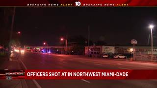 Search underway for man who shot at police in northwest