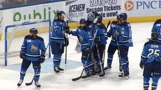 Icemen get first playoff win vs. Florida&#x3b; 4-3