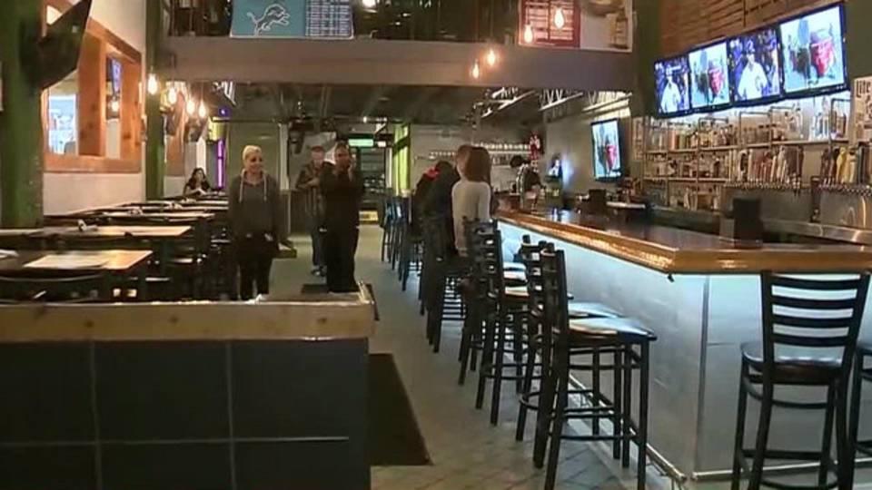 Brass Rail bar Downtown Detroit
