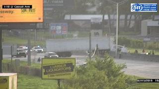 Crash involving semi blocks several lanes of I-10 near Cassat Avenue