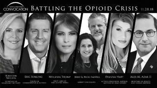 WATCH: Melania Trump joins Liberty University panel on opioid crisis