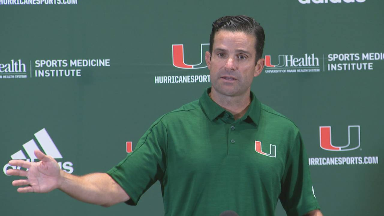 'It's good to have a guy,' Miami Hurricanes head coach Manny Diaz says of QB battle