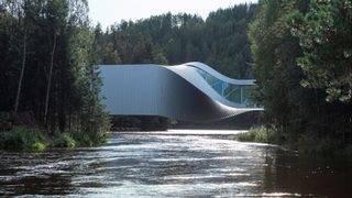Norwegian bridge also an art museum