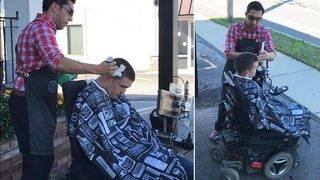 Barber Cuts Man&#039&#x3b;s on Sidewalk After He Couldn&#039&#x3b;t Get Wheelchair&hellip&#x3b;