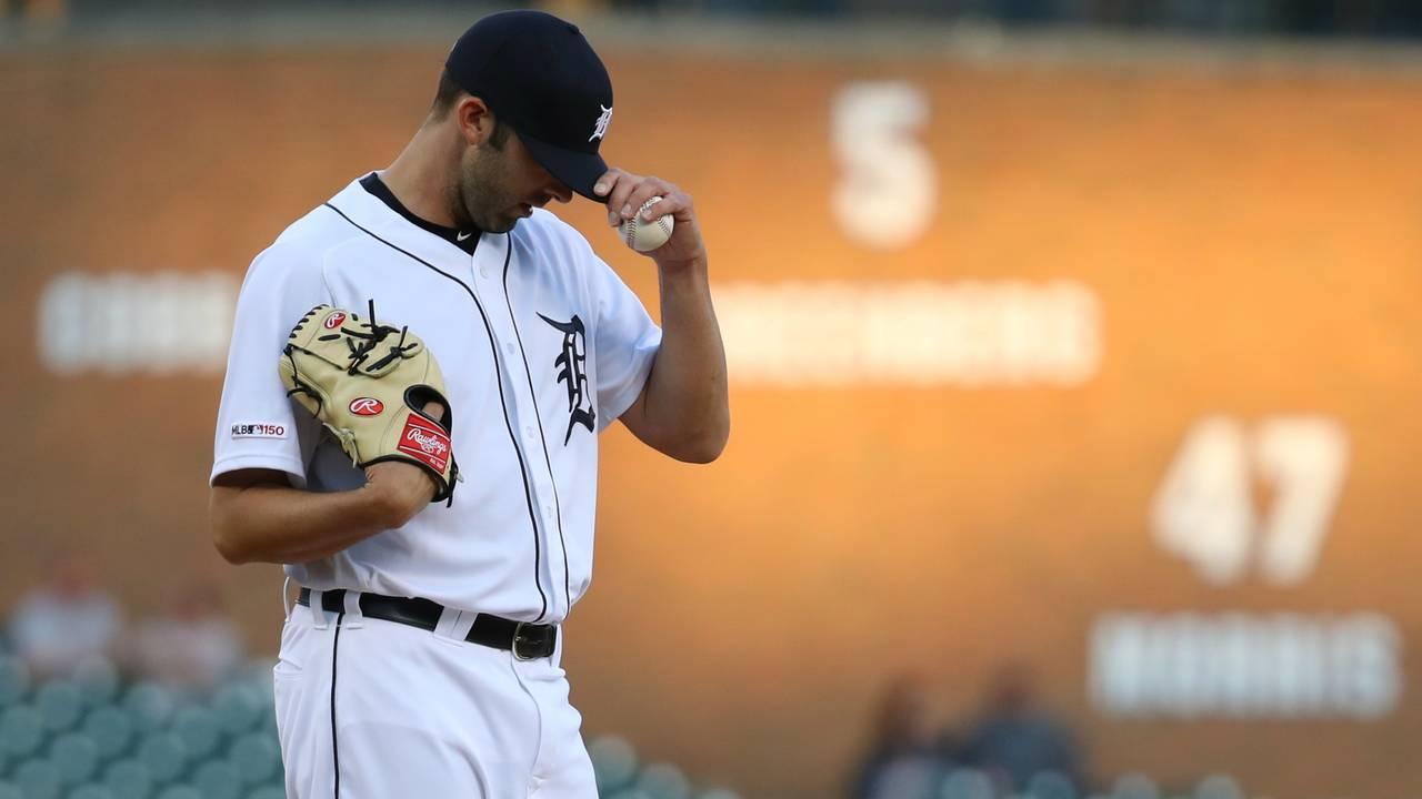 Ryan Carpenter Detroit Tigers vs Astros 2019