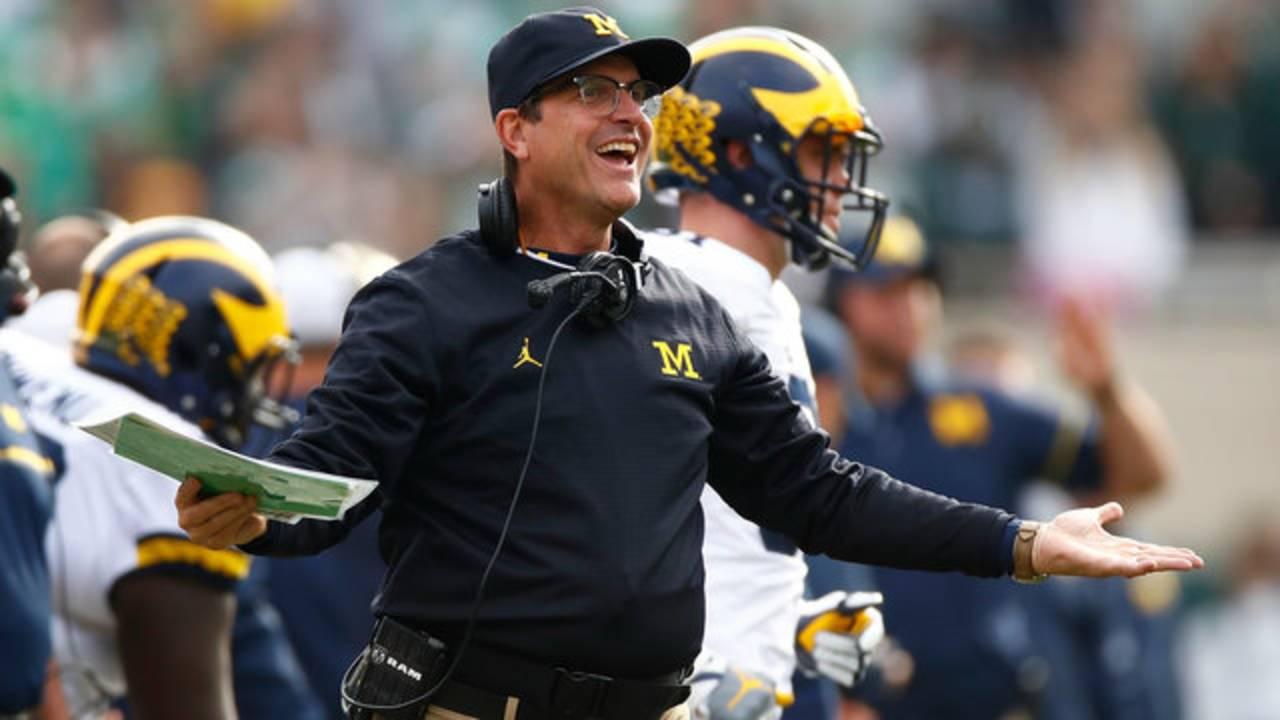 Jim Harbaugh exasperated Michigan football vs Ohio State 2016