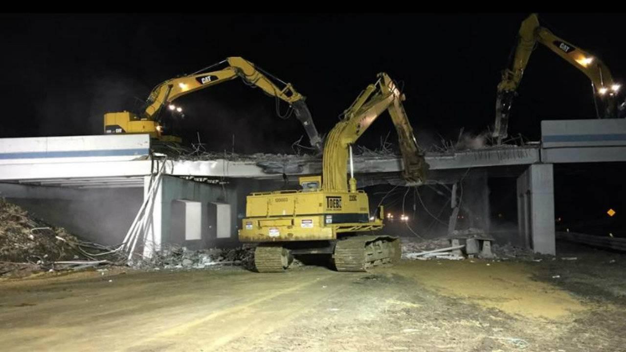 MDOT demolition of 8 Mile bridge on US 23