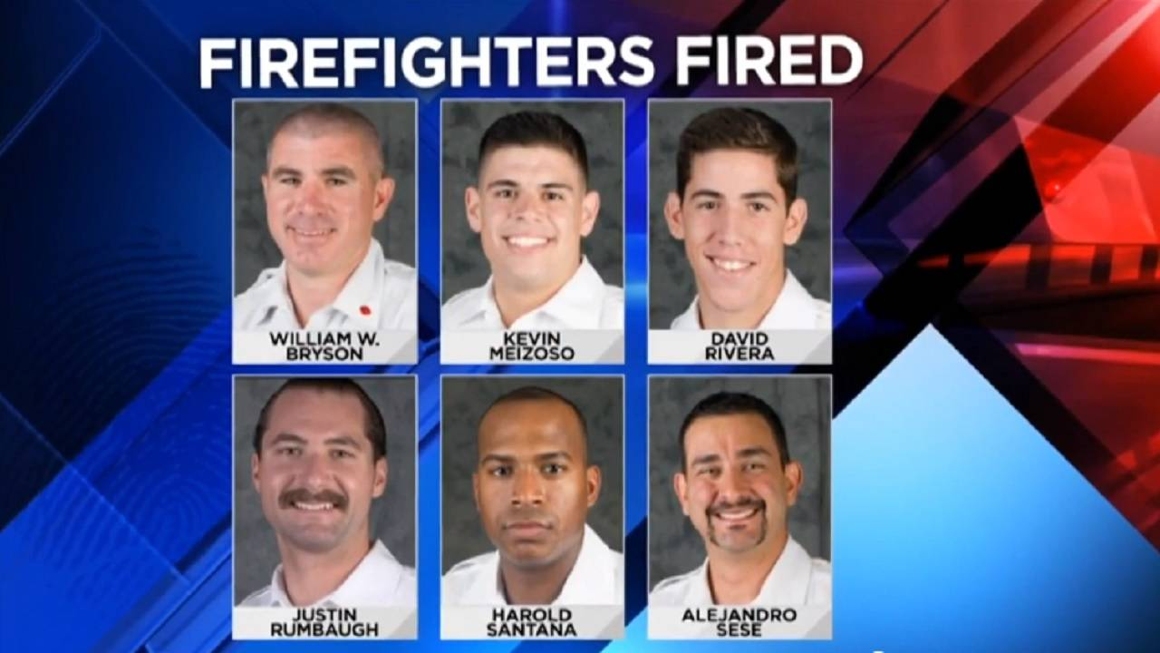 Firefighters who were fired after noose incident