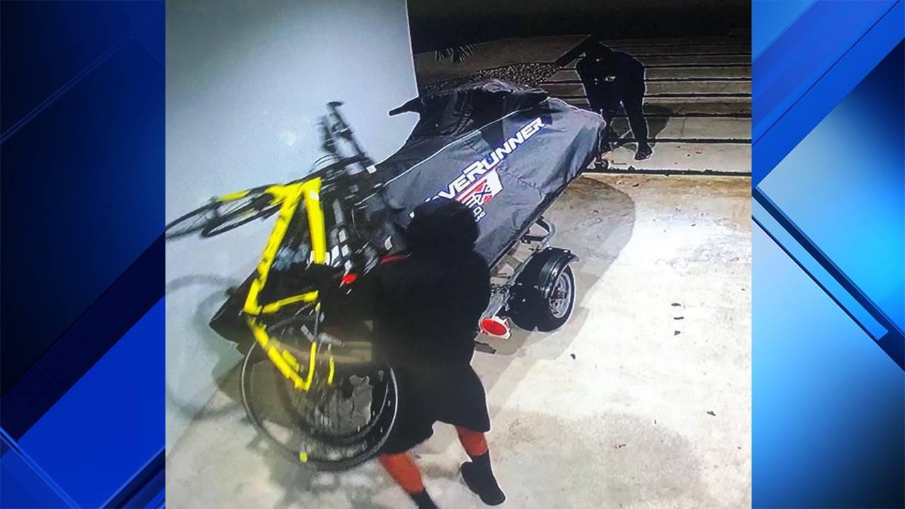 2 men stealing WaveRunner in Miami