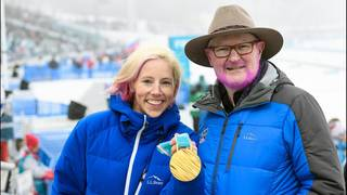 Gold win means pink beard for US ski spokesman