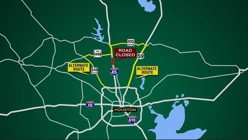 Major I-45 closure this weekend