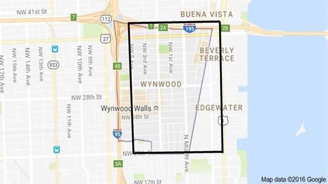 Map of Zika virus outbreak in Miami