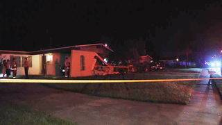 1 hurt after car slams into Orange County home