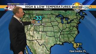 Weather 101: High and Low Temperatures across America