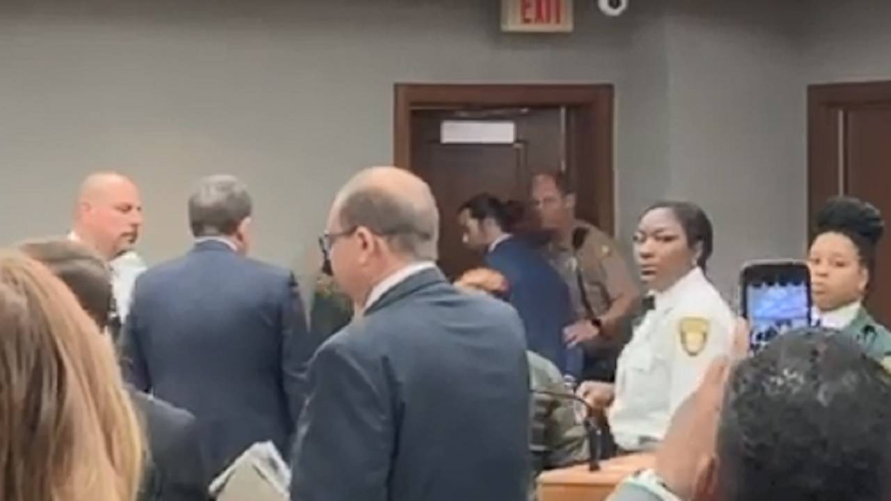 Pablo Lyle being taken away in cuffs April 8