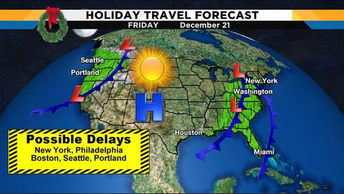 Rain, storms causing major travel issues for the East Coast