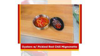 SoFlo Taste: Oyster with Red Chilies Mignonette