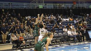 Mortensen hits 8 3s, No. 25 Miami women rout FIU 94-43