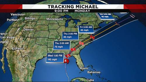Tracking the tropics: Hurricane Michael nears Florida as Category 4 storm