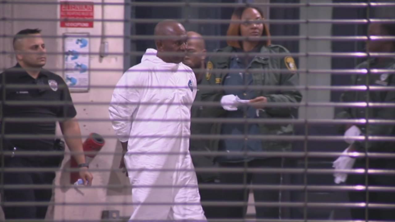 Noel Chambers arrives at jail