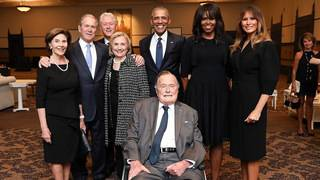 Four presidents pay tribute to Barbara Bush