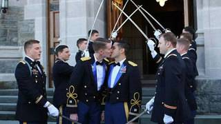 Same-sex active-duty couple weds at West Point